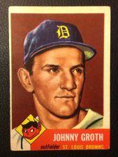 Buy 1953 Topps #36 Johnny Groth GOOD
