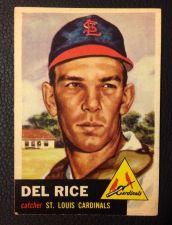 Buy 1953 Topps #68 Del Rice VG+