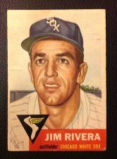 Buy 1953 Topps 156 Jim Rivera VGEX