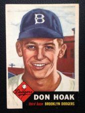 Buy 1953 Topps #176 Don Hoak EX