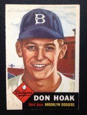 Buy 1953 Topps #176 Don Hoak EXMT