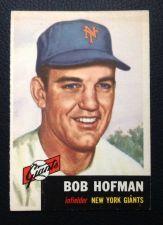 Buy 1953 Topps #182 Bob Hoffman VGEX