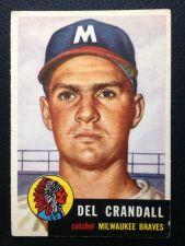 Buy 1953 Topps #197 Del Crandall VG+