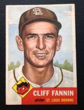 Buy 1953 Topps #203 Cliff Fannin VGEX