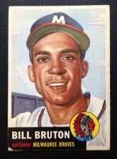 Buy 1953 Topps #214 Bill Bruton VG+