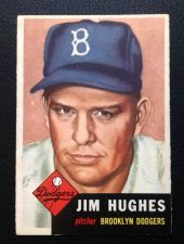 Buy 1953 Topps #216 Jim Hughes VGEX