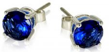 Buy Blue Sapphire Classic Design Earrings