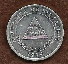 Buy 1974 Nicaragua 5 Centavo World Coin - Medal Alignment