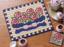 Buy Cabbage Rose Set Plastic Canvas PDF Pattern Digital Delivery