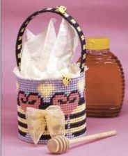 Buy Bee Heart Basket Plastic Canvas PDF Pattern Digital Delivery
