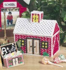 Buy School House Treat Basket Plastic Canvas PDF Pattern Digital Delivery
