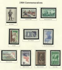 Buy 1964 Commemorative Mint Stamps Features Sam Houston, New Jersey,Kennedy & More!