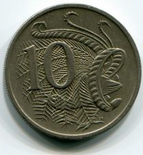 Buy 1984 Australia 10 Cent Elizabeth II Lyrebird Last Year Reeded Edge KM65