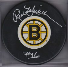 Buy Rick Middletown Boston Bruins Auto Bruins Logo Puck COA