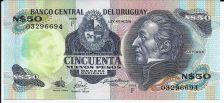 Buy Banko Central Del Uruguay 50 Nuevos Pesos Banknote 03296694 UNC Beautiful Note!