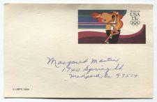 Buy 1984 Olympics 13c Postcard USPS USA Used Medford, OR