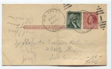 Buy 1955 2 Cent Franklin Postcard Plus 1 Cent Wash. Used Big Creek, CA Cancellation