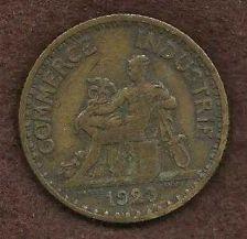 Buy 1923 France 1 Franc Aluminum Bronze World Coin Mercury Seated