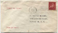 Buy 1943 5 Cent Air Mail New York City Golden Anniversary Home Made First Day Issue