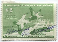 Buy 1957 $2.00 American Eider Duck Stamp Signed Clean Used High Catalog Value