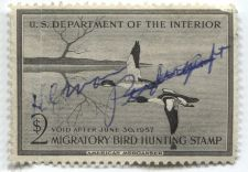 Buy 1956 $2.00 American Merganser Duck Stamp Signed Clean Used High Catalog Value