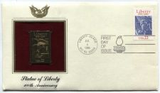 Buy 1986 Statue of Liberty 100th Anniversary Gold Replica 22 cent Stamp Unaddressed