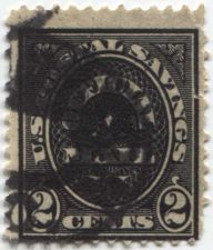 Buy 1910-1 2 cents Black US Official Savings Stamp Cancelled Good Used Condition