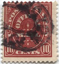 Buy 1910-1 10 cents Carmine US Official Savings Stamp Cancelled Good Used Condition