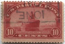 Buy 1913 10 cent Parcel Post Steamship & Mail Tender Good Used Stamp Ione, CA