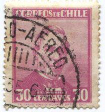 Buy 1934 Correos de Chile President Jose Jauquin Perez 30 Centavos Aereo Cancel
