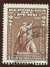 Buy Vintage Postage Stamp Peru Definitive Brown 2 Centavos / Republic of Peru