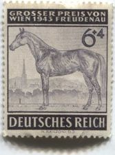 Buy 1943 6 +4 Pfenning German Deutsches Reich Hinged slight crease unused