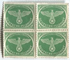 Buy 1943 Green Deutsches Feldpost Christmas Parcel Postage Block x4 Attached Unused