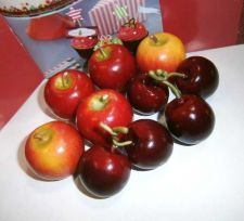 Buy 10 FAKE FAUX APPLES,CHERRY ARTIFICIAL,PROPS,STAGING,DECORATIVE,SMALL SIZE