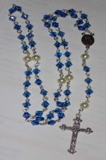 Buy HANDCRAFTED Blue Sapphire Bicone Rosary ROS343BLSAP