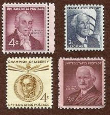 Buy US PROMINENT PEOPLE 1954-66 McDowell, Wright, Eastman & Bolivar Mint Set of 4