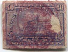 Buy 1898 40 Cent Documentary Battleship Internal Revenue Used Hand Cancel Damaged