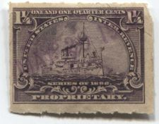 Buy 1898 1 1/4th Cent Proprietary Battleship Light Hand Cancel May 29, 1901