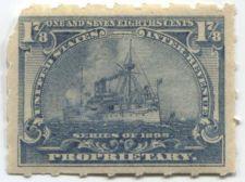 Buy 1898 1 7/8 Cent Proprietary Battleship Internal Revenue Used Hyphen Hole