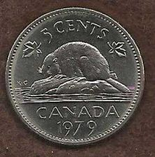 Buy Canada 5 Cents 1979 Bugtail Beaver Nickel