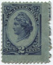 Buy 1875-8 2 Cent Blue Liberty Internal Revenue Used No Cancel and Pen Cancelled