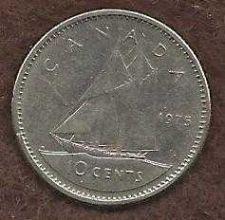 Buy Canada 10 Cents 1975 Sailboat