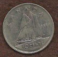 Buy Canada 10 Cents 1979 Sailboat