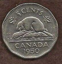 Buy Canada 5 Cents 1950 Uncrowned George VI Beaver Nickel
