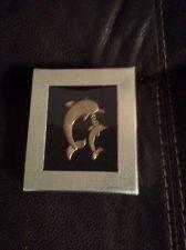 Buy *~NIB Beautiful Gold plated Dolphin & Baby Dolphin Brooch