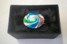 Buy *~NIB Beautiful Unique Silver Tone Cuff bangle with glass decor