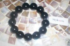 Buy *~NWT Style & Co Black Beaded Stretch Bracelet