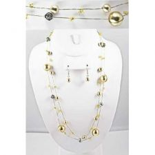 Buy *~New Pretty Goldtone & Sivertone Roses Necklace set