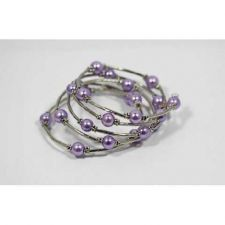 Buy *~New Pretty Lavendar Beaded Wrap Around Bracelet