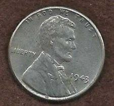 Buy US Lincoln Type Wheat Cent Steel Penny 1943 P - WWII Era Currency